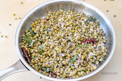 Pachai Payaru Sundal/Green Gram Sundal Recipe by GoSpicy.net