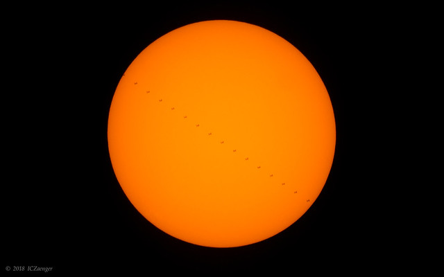 July 2018 ISS solar transit