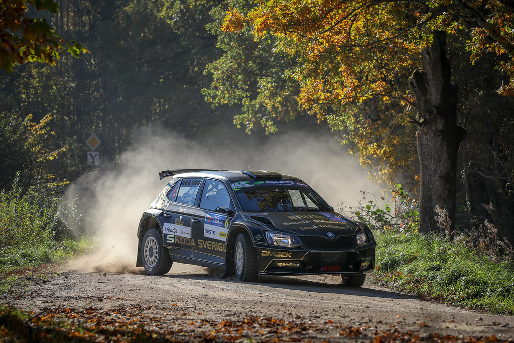 06 AHLIN Fredrik, (SWE), Joakim SJOBERG, (SWE), Skoda Fabia R5, Action during the 2018 European Rally Championship ERC Liepaja rally,  from october 12 to 14, at Liepaja, Lettonie - Photo Alexandre Guillaumot / DPPI
