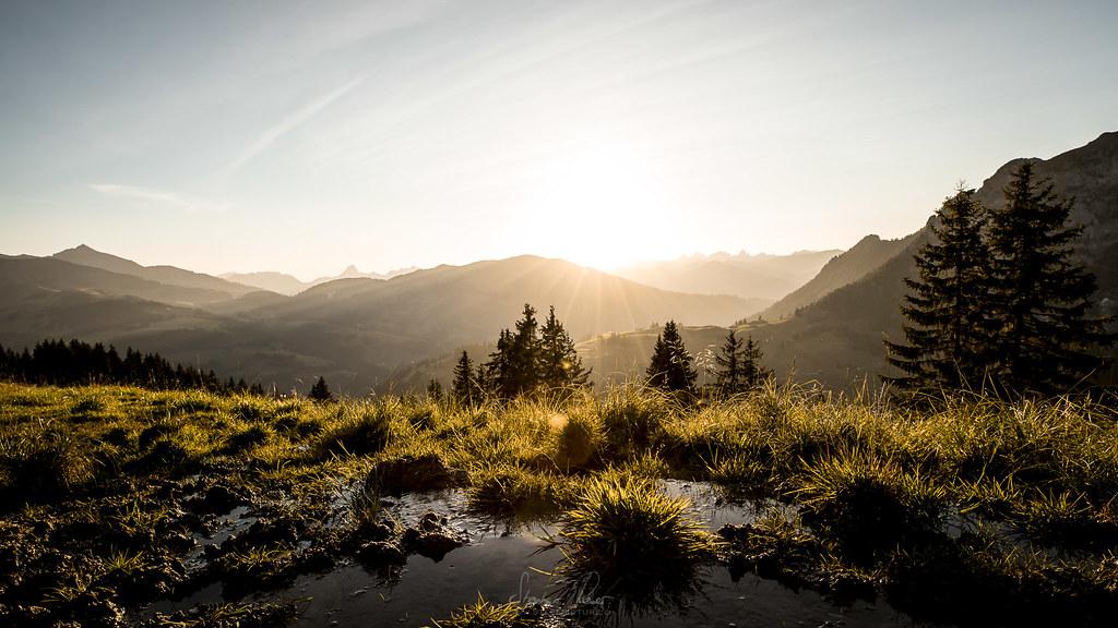~ Sonnenuntergang im Berner Oberland ~