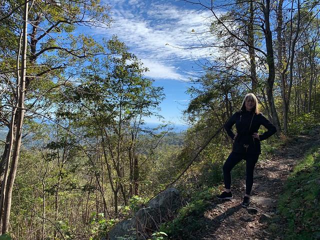 On the Appalachian Trail heading towards Mary's Rock
