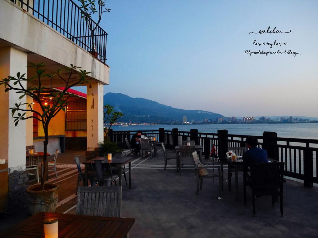 新北淡水老街夜景夕陽景觀餐廳咖啡館推薦la villa cafe (2)