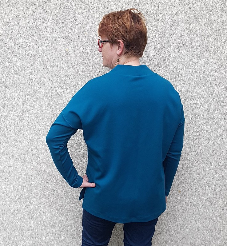 Sew House Seven Tabor V-Neck Sweater in ponte