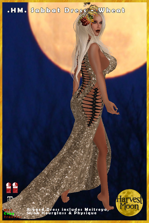 Harvest Moon - Sabbat Dress - Wheat - TeleportHub.com Live!