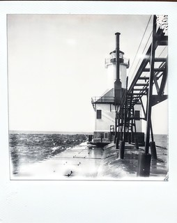 St. Joseph Michigan Inner Lighthouse - Polaroid SX 70