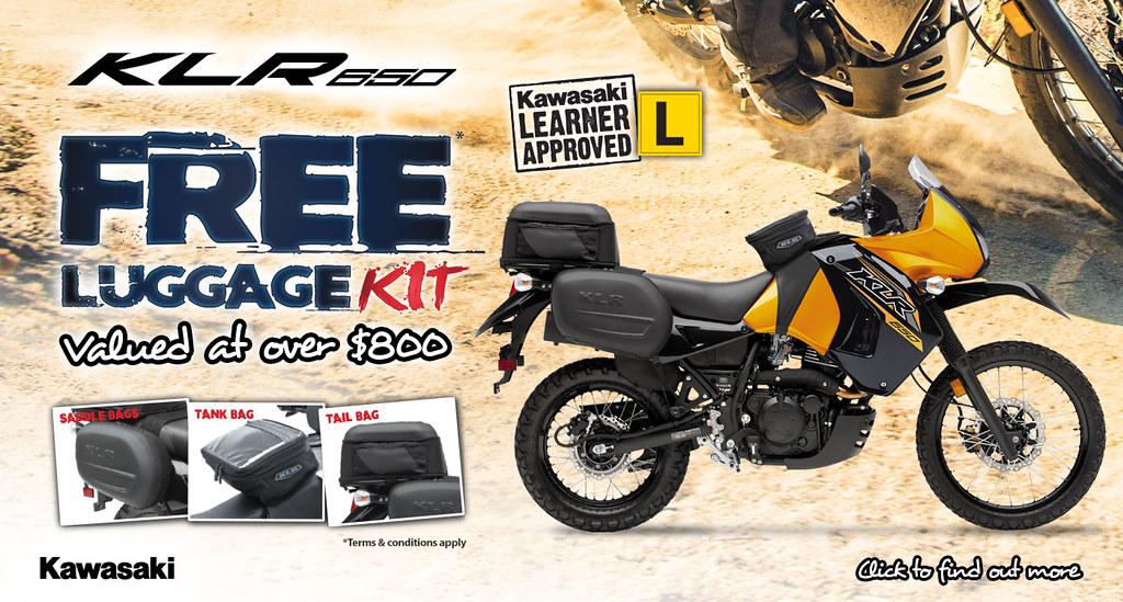 KLR650 Free Genuine Luggage Kit