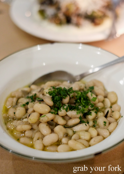 White beans at Bistecca Sydney