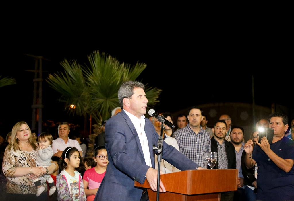 San Juan: Inauguraron sistema de iluminación LED en la avenida Joaquín Uñac en Pocito