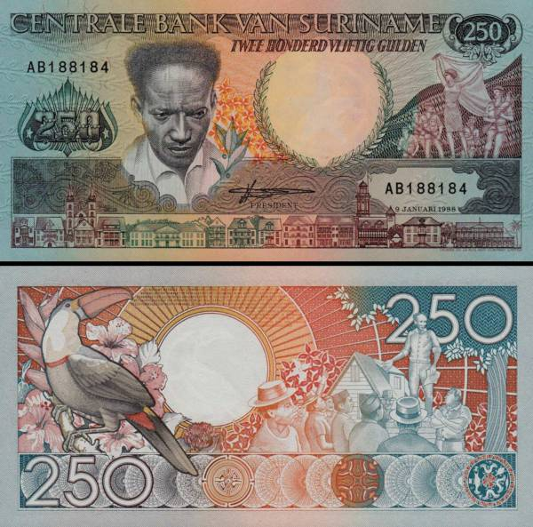 250 Gulden Surinam 1988, P134