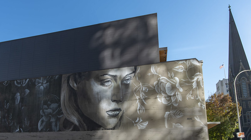 "RONE's ""Every Rose has its Thorn"" mural"