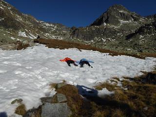 Sunbathing in High Tatras National Park, Slovakia