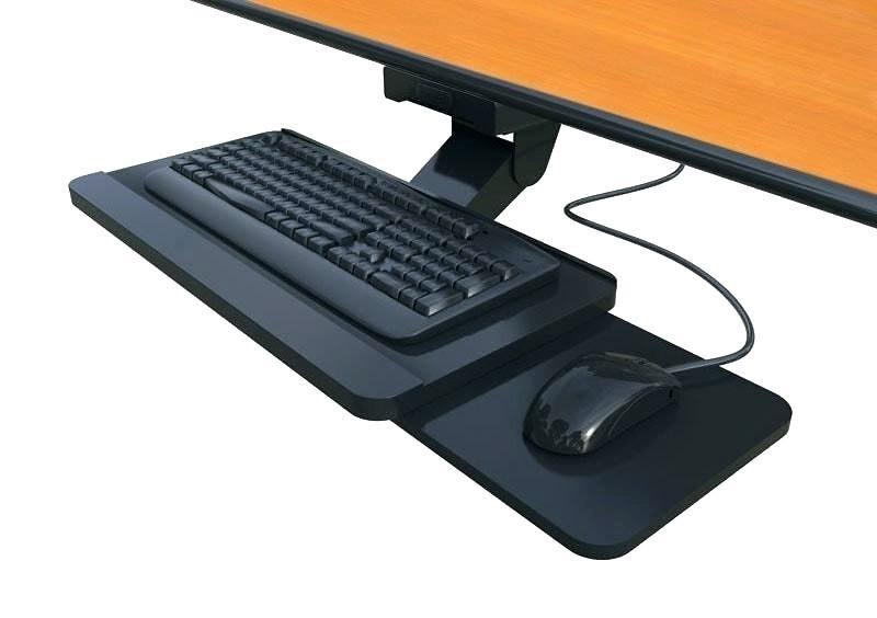 Under-desk keyboard and mouse platform