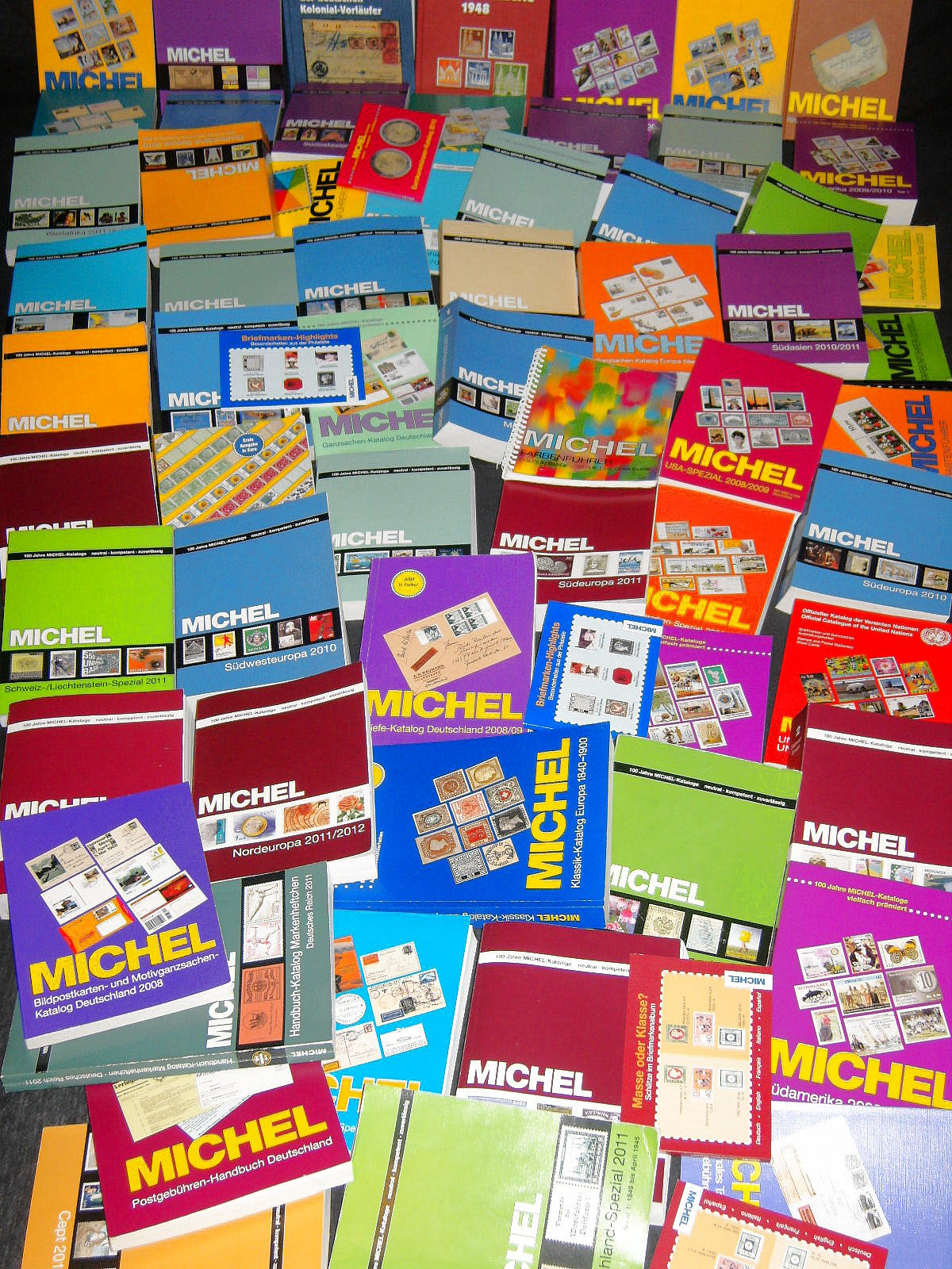 A variety of Michel catalogues from Germany