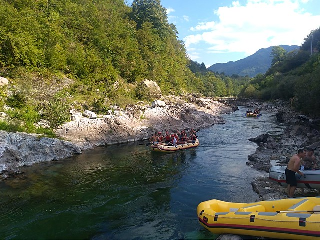 Rafting down the Neretva river