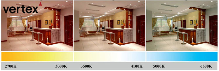 light colour temperature of led downlight