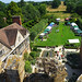 A view over the village fete from the tower at Coughton Court