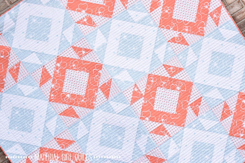 Mosaic quilt by Amanda Castor of Material Girl Quilts