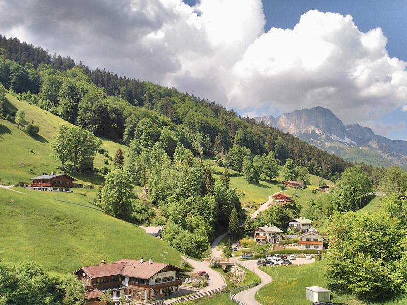 Paisaje cerca de la localidad alenana de Berchtesgaden, junto a la iglesia de Wallfahrtskirche Maria Gern