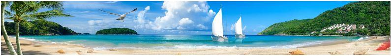Mẫu kính ốp bếp in tranh phong cảnh biển TOP-224 tuyệt đẹp