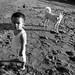 Little boy 'n dog by rexfoto54
