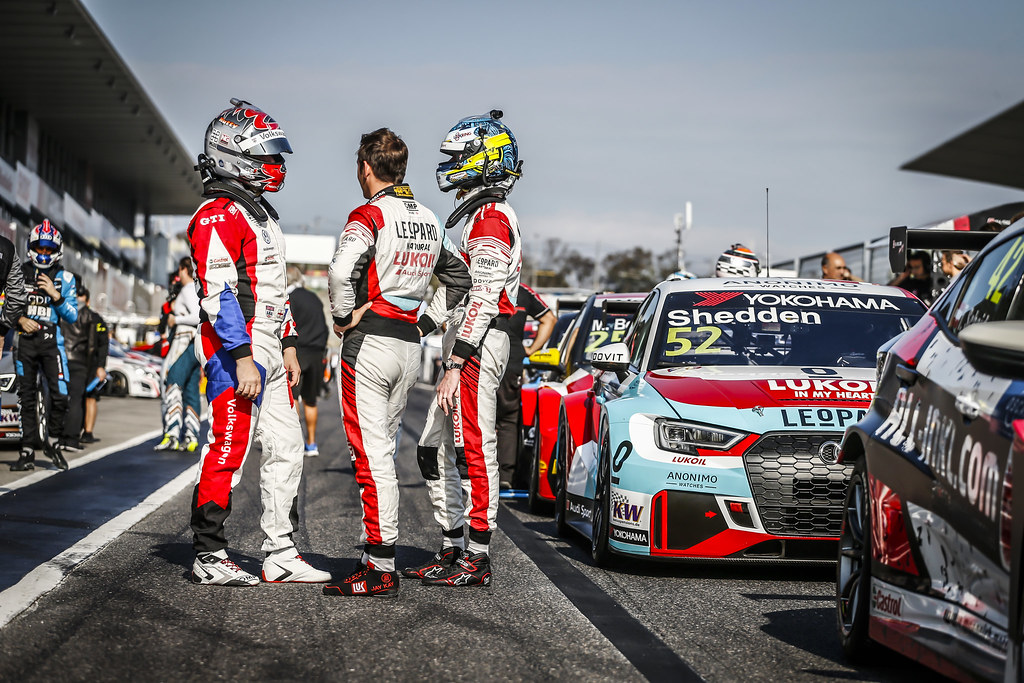 HUFF Rob, (gbr), Volkswagen Golf GTI TCR team Sebastien Loeb Racing, portrait SHEDDEN Gordon, (gbr), Audi RS3 LMS TCR team Audi Sport Leopard Lukoil, portrait VERNAY Jean-Karl, (fra), Audi RS3 LMS TCR team Audi Sport Leopard Lukoil, portrait during the 2018 FIA WTCR World Touring Car cup of Japan, at Suzuka from october 26 to 28 - Photo Francois Flamand / DPPI