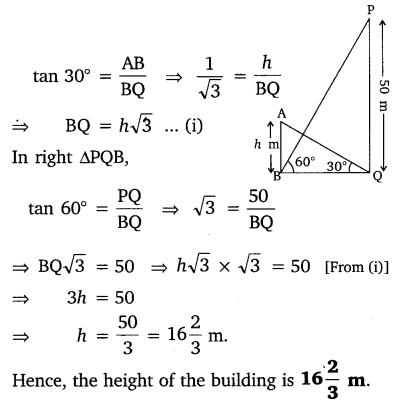 NCERT Solutions for Class 10 Maths Chapter 9 Some Applications of Trigonometry 12