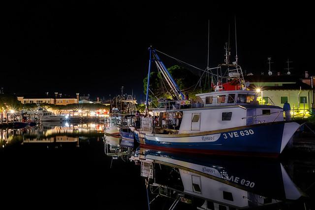 Caorle - Hafen bei Nacht