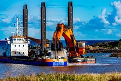 Goliath Hard at work Dregging the New Aberdeen Cruise Terminal ..