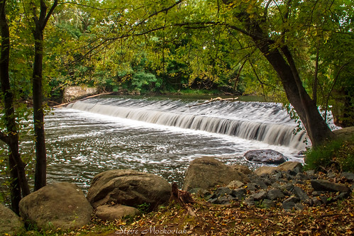 smack53 water river stream brook creek dam waterfall longexposure boonton newjersey summer summertime outdoors outside scenic scenery canon powershot g12