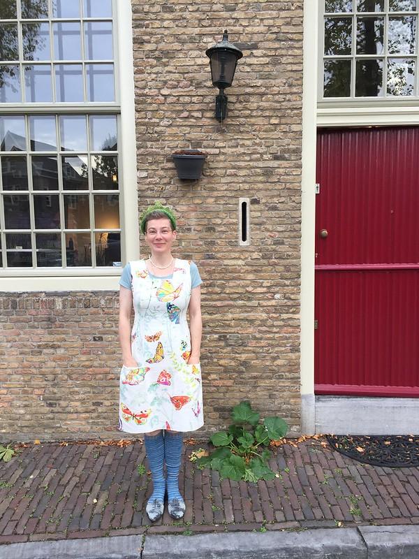 handsewn dress sewing self drafted pattern bunka dressform continuous hem