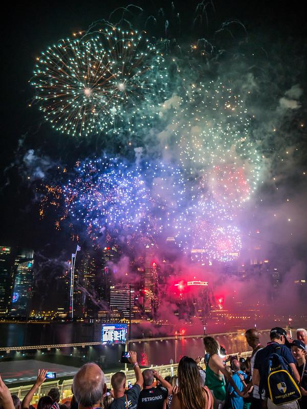 Fireworks, Formula 1 2018 Singapore Grand Prix, Marina Bay