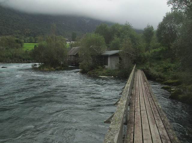 Wooden Bridge, Oldeelva River, Norway