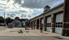 Hose testing - the work never stops at the Westminster Fire Engine and Hose Co. No. 1. 9Oct2018