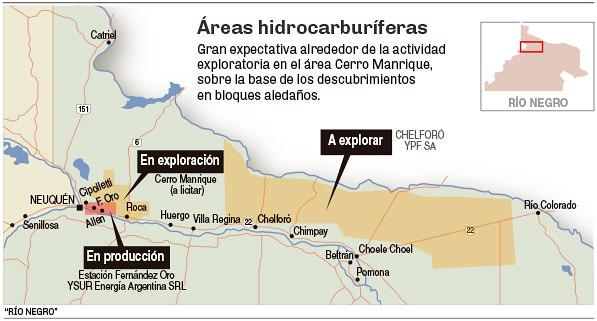 Áreas hidrocarburíferas