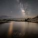 Lonesome gazer at lake