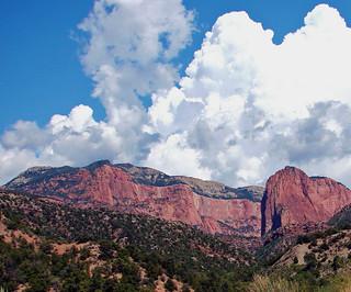 Thunderheads over Kolob Canyon, Zion NP 2014
