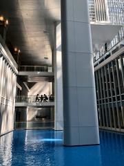 Water feature, level C2, atrium at World Bank headquarters, Washington, D.C.