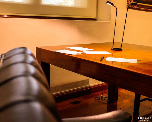 Notas en el escritorio