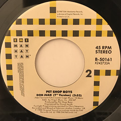 PET SHOP BOYS:DOMINO DANCING(LABEL SIDE-B)