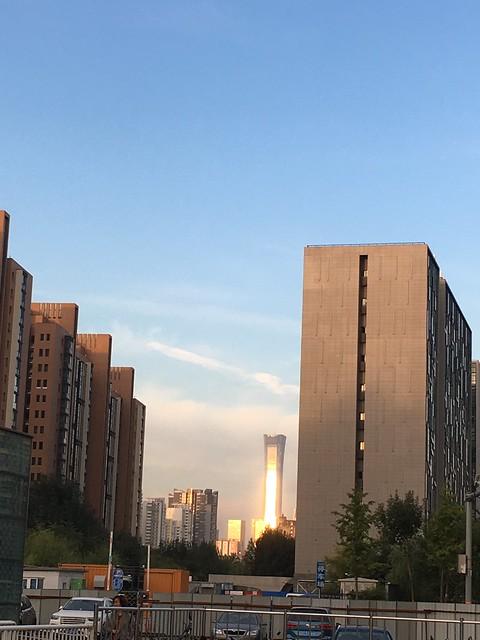 早晨,北京第一高楼中国樽反射着阳光,表面像镀了一层金,这个镀金时代