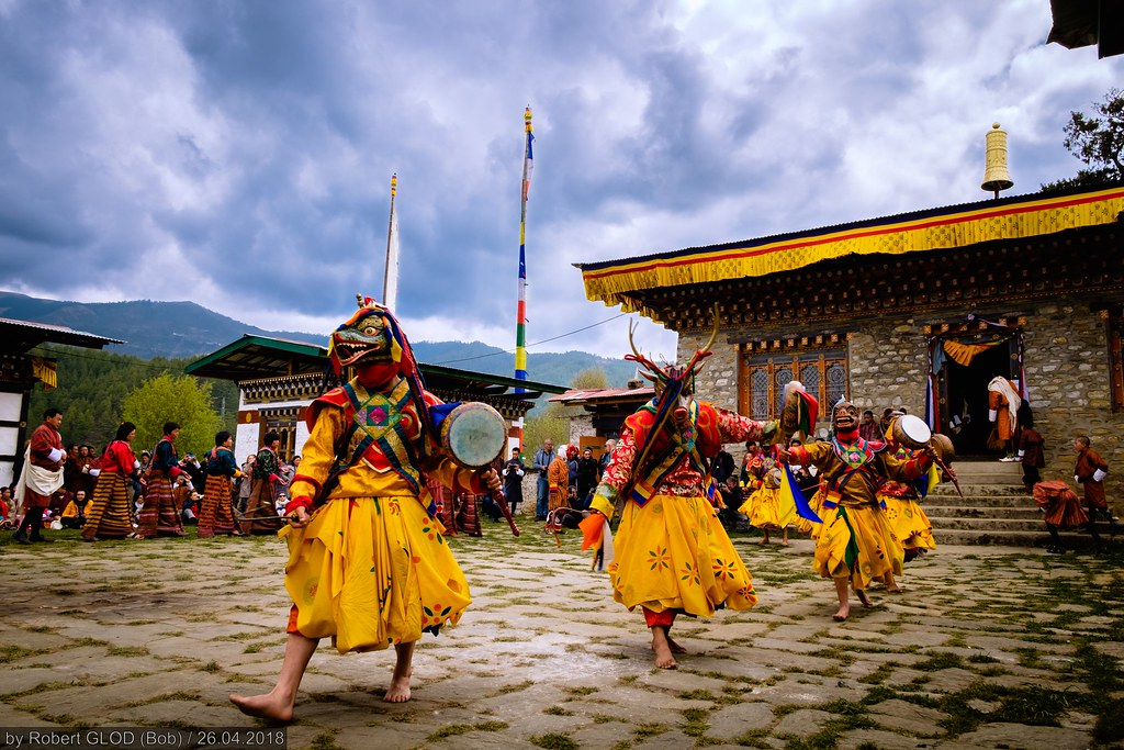 Domkhar Tshechu at the Domkhar Lhakhang in Chumey