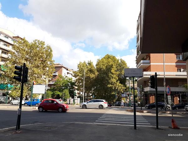 Via Anastasio II street in Rome