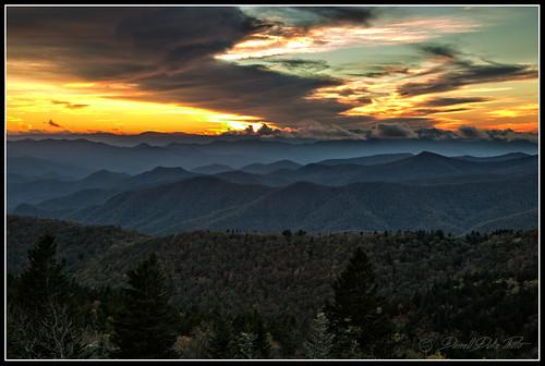 blueridgeparkway coweeoverlook brevardnc sunset sunsets
