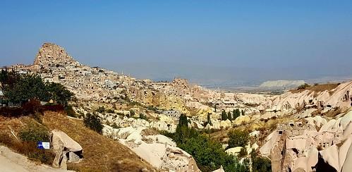 panorama landscape pigeonvaley uçișarnaturalcastle cappadocia