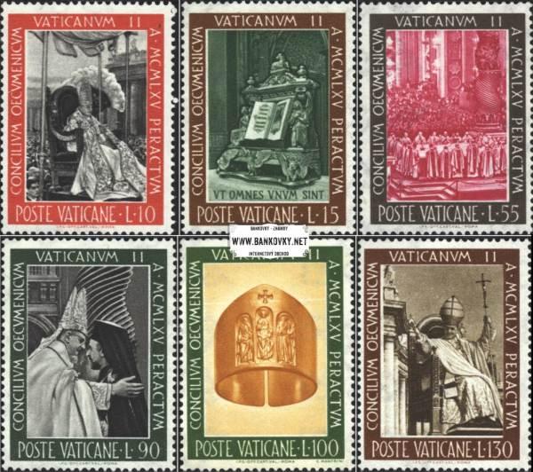 Známky Vatikán 1966 Koncil, neraz. séria MNH