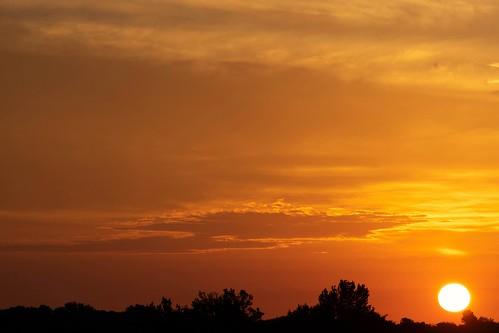 Golden spring sunrise, May 2018
