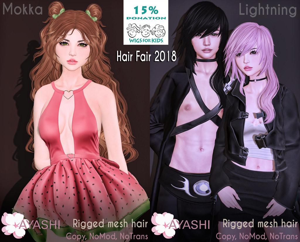 [^.^Ayashi^.^] at Hair Fair 2018!!! - TeleportHub.com Live!