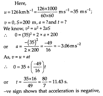 NCERT Solutions for Class 11 Physics Chapter 3 Motion in a Stright line 6