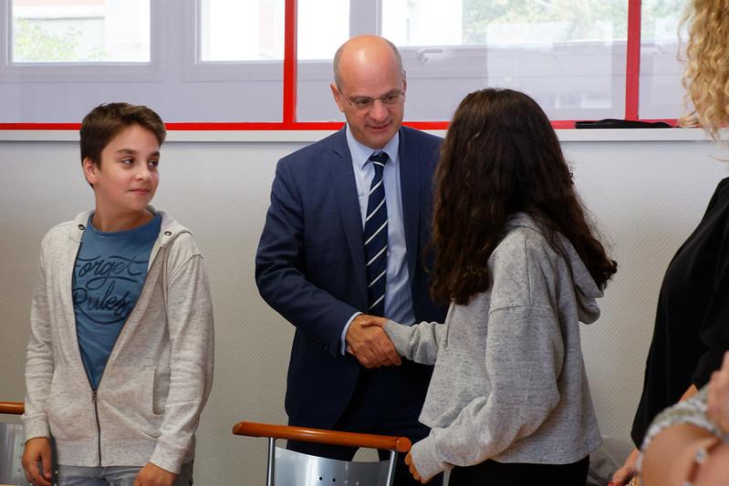 Déplacement dans un collège de Nancy