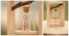 2 hearts together 1 love forever, Tiny message in a bottle,Miniatures,Personalised Gift,Love Card,Valentine Card,Gift for her/him,Girlfriend gift, birthday card, holiday card and funny card ideas